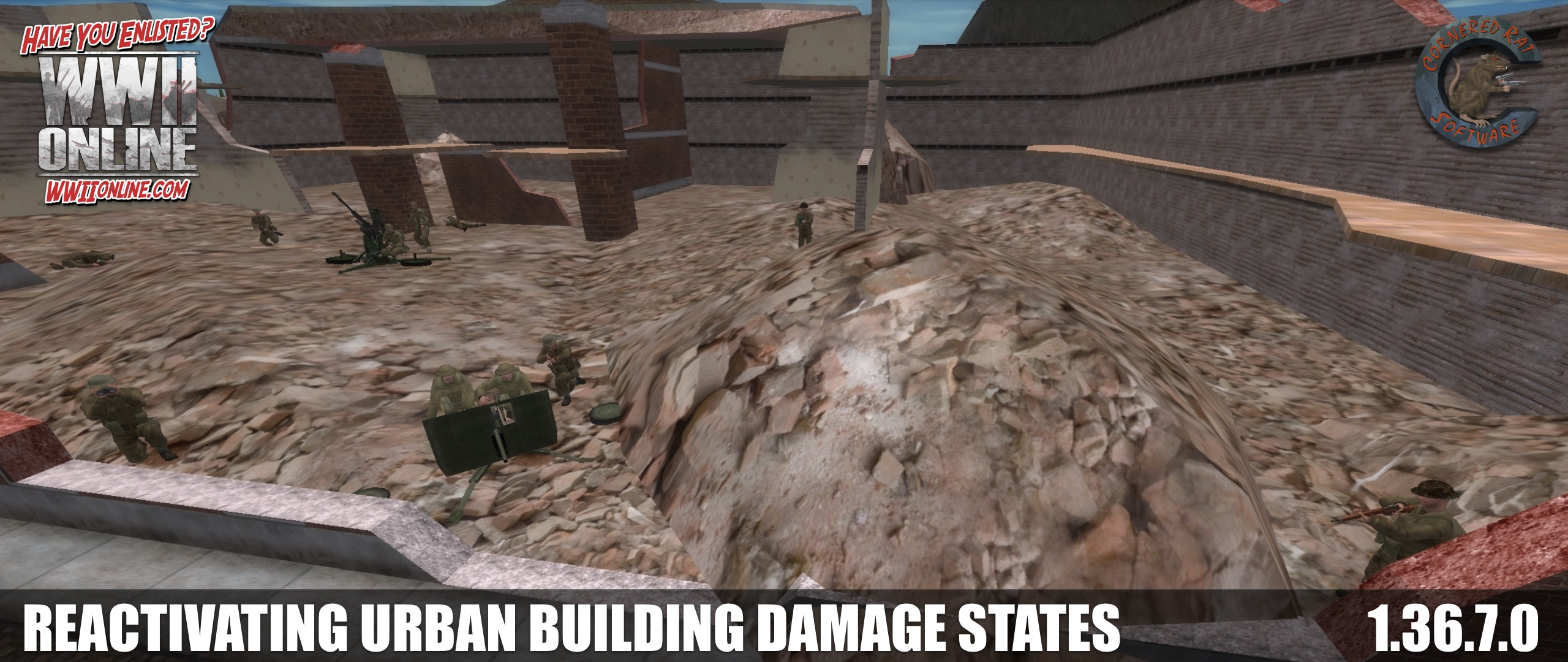Urban Building 01: Damage state / ambush