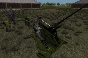 Old Flak30 AA Gun