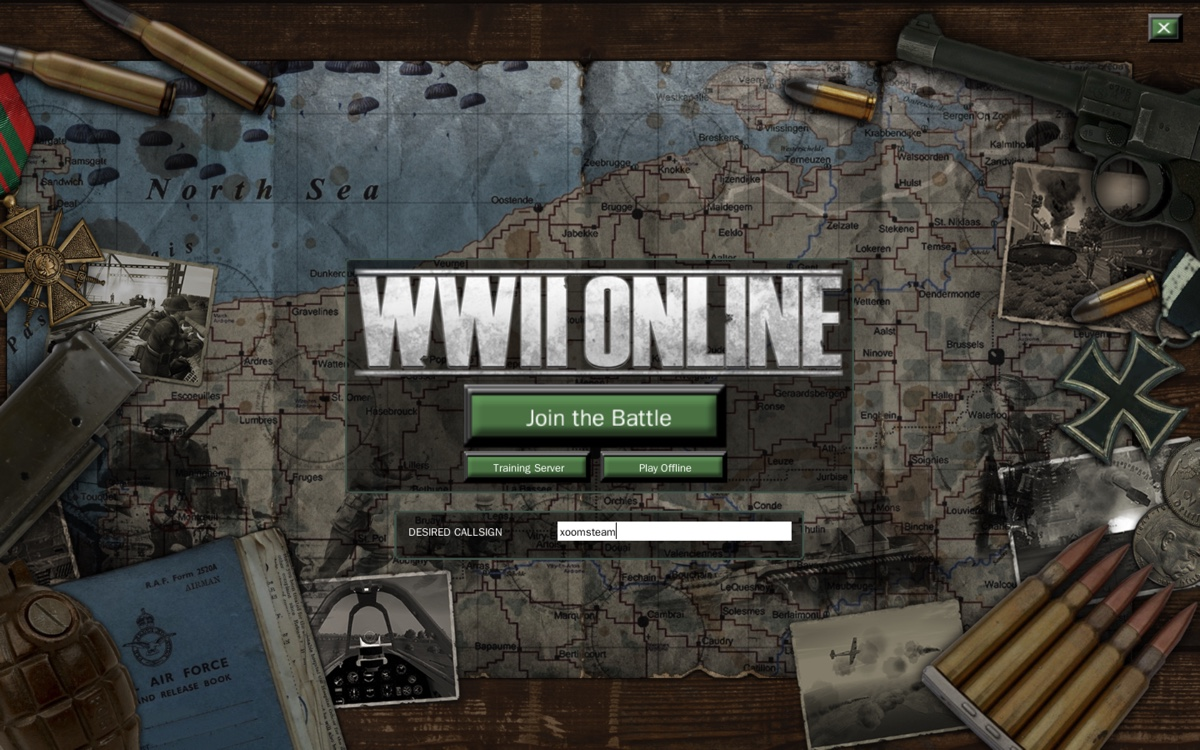 New WWII Online arena screen for Steam