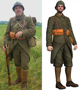 French Trooper WWII Online